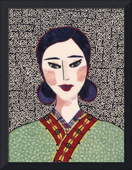 Japanese Girl in Kimono Series - Chieko