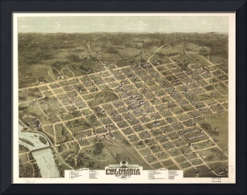 Vintage Map of Columbia South Carolina (1872)