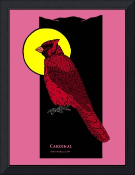 Cardinal and Full Moon