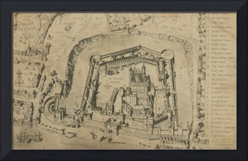 A view of the Tower of London in 1553