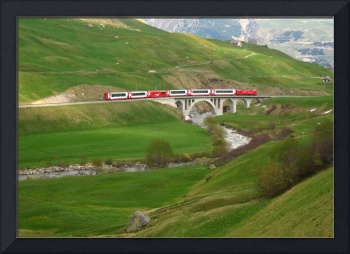 Through mountains and valleys of Switzerland