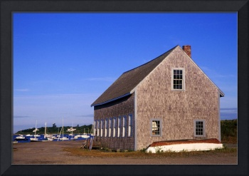 Boat house on Chatham Harbor, Cape Cod