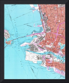 Vintage Map of Oakland California (1959)