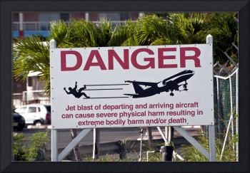 Jet blast danger sign.