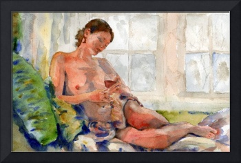Wine Glass II, Nude Female Art