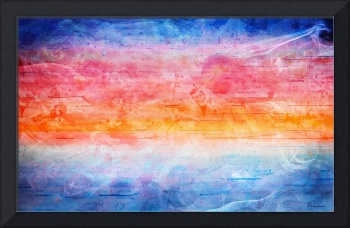 1b Abstract Expressionism Digital Sunrise Painting