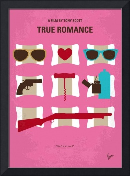 No736 My True Romance minimal movie poster