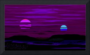 Violet Alien Sunset