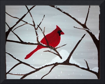 A little cheer with a red bird