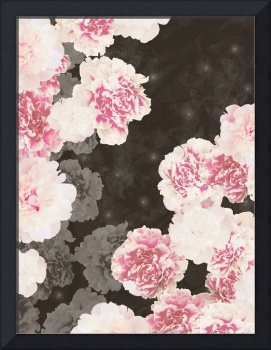 Night Peonies Black