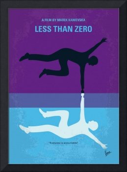 No848 My Less Than Zero minimal movie poster