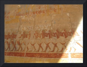 Egyptian Wall Painting of Warriors