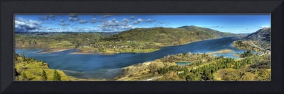 0156 Columbia River Gorge Panoramic Taken From Row