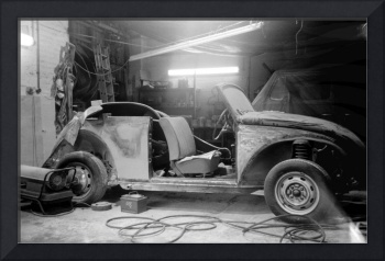 Vintage Beetle in Workshop