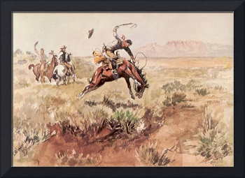 Bronco Busting (1895) by Charles Russell