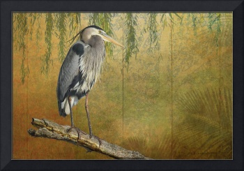 heron on goldleaf