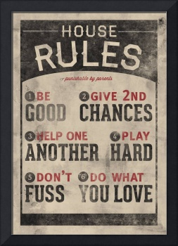 Do What You Love Family Rules Wall Art
