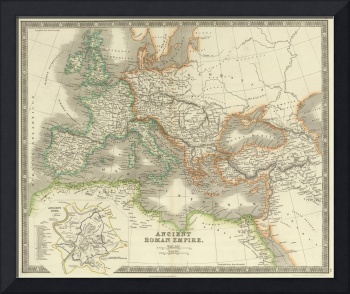 Vintage Map of The Roman Empire (1844)