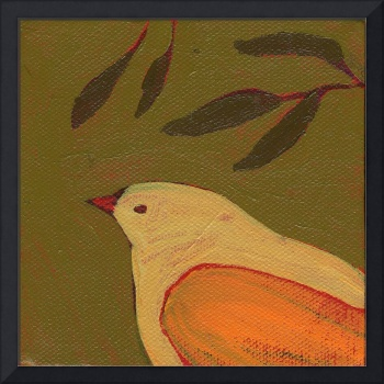 Tangerine Bird in Thought
