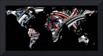 World Map Silhouette - Bike Tires