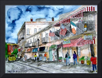 savannah river street painting