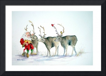 St. Nick and Reindeer