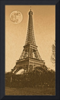 Vintage Poster of eiffel tower