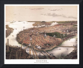 Boston Massachusetts Panoramic Map