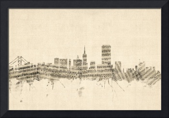San Francisco Skyline Sheet Music Cityscape