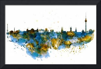 Berlin Watercolor Skyline