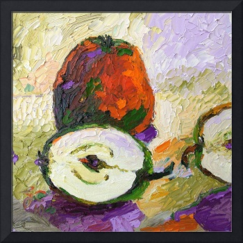 Apples Still Life Oil Painting by Ginette Callaway
