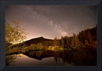 Rural Rustic Rocky Mountain Cabin Milky Way View