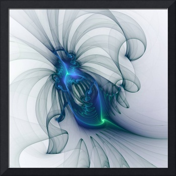 Abstract Blue Insect