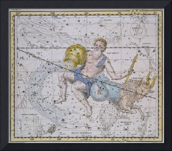 Aquarius and Capricorn, from 'A Celestial Atlas'