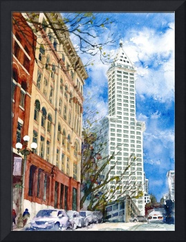 Smith Tower & Mutual life building in Seattle