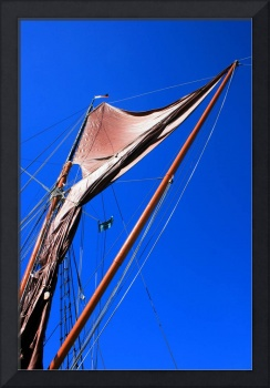 Barge Sail and Sky