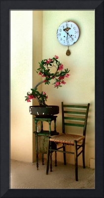 chair and flower