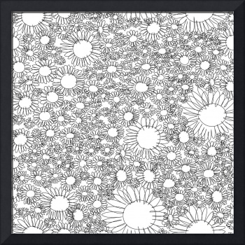 Black and White Floral 2