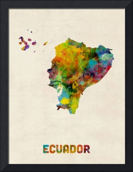 Ecuador Watercolor Map