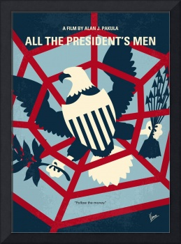 No678 My All the presidents Men minimal movie post