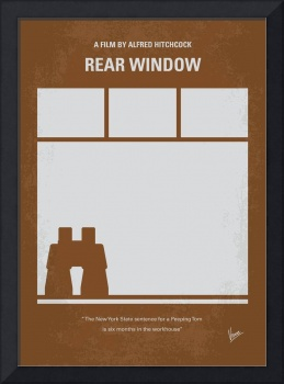 No238 My Rear window minimal movie poster