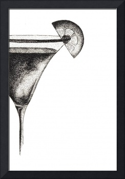 Stippled Illustration Of A Martini