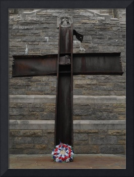9-11 crucifix cross in Inwood Park Manhattan