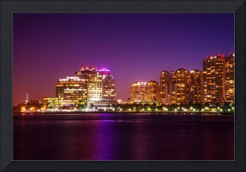 West Palm Beach in Purple