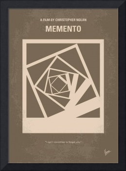 No243 My Memento minimal movie poster