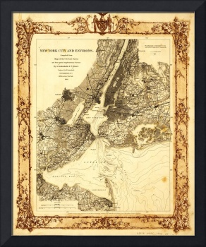 Map of New York City and Environs (1860)