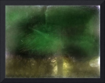green trees cars photographic painting