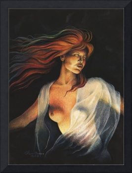 Woman Dancing with stars painting