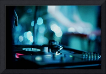 House music dj deejay turntable in nightclub party