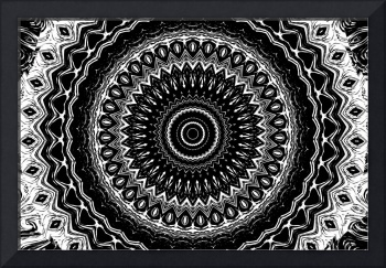 Black and White Wheel  Mandala